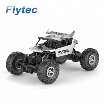 Flytec 9118 2.4 Ghz Climbing Car 4WD Remote Control Toys RC Car 1 / 18 Scale Off Road Racing Toy Adults and Kids RTR (Silver)