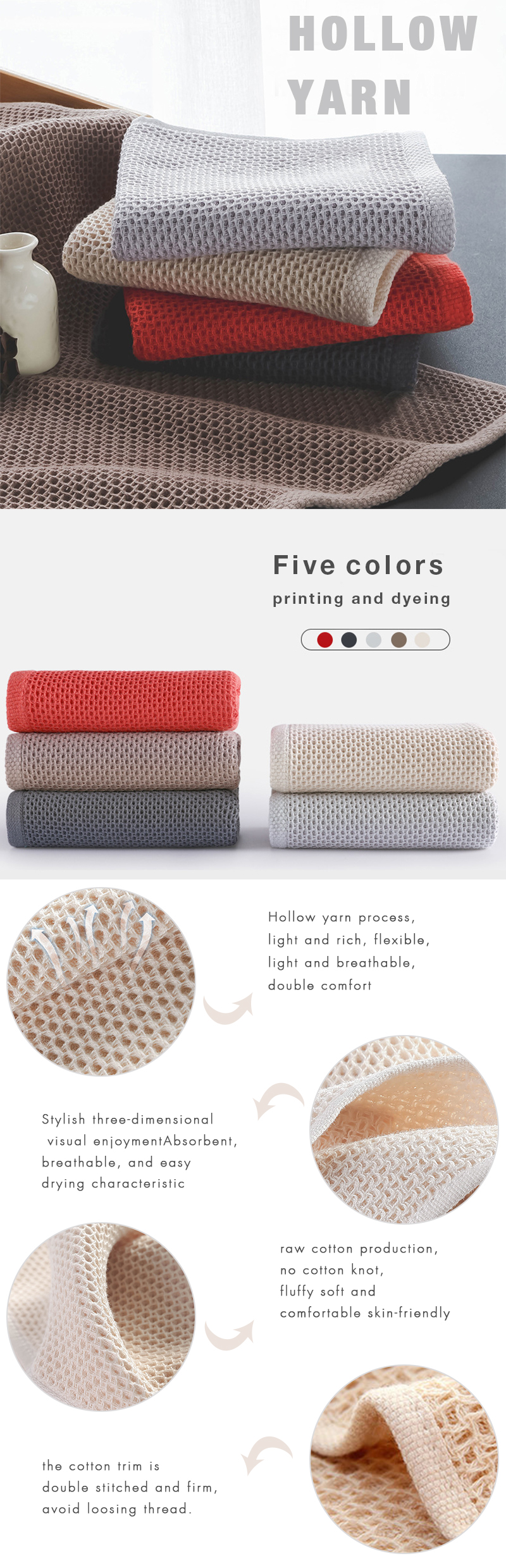high density 100% cotton towel Luxury hotel & spa bath towels for family