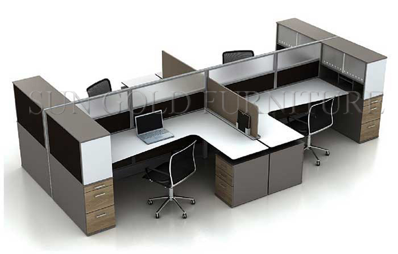 Office Desk For 4 Person,Cheap Office Partitions,Computer Desk