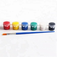 ASTM D4236 certificates acrylic paint pots strip 5ml with paint brush