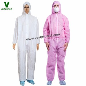 Free Sample Disposable Pink Coveralls