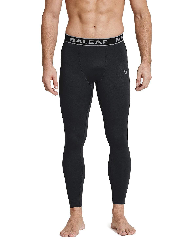 68fccf211109da Baleaf Men's Thermal Compression Baselayer Tights Fleece Lined Pants