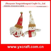 Christmas decoration (ZY13L215-1-2 20CM) Christmas china product polyester fabric