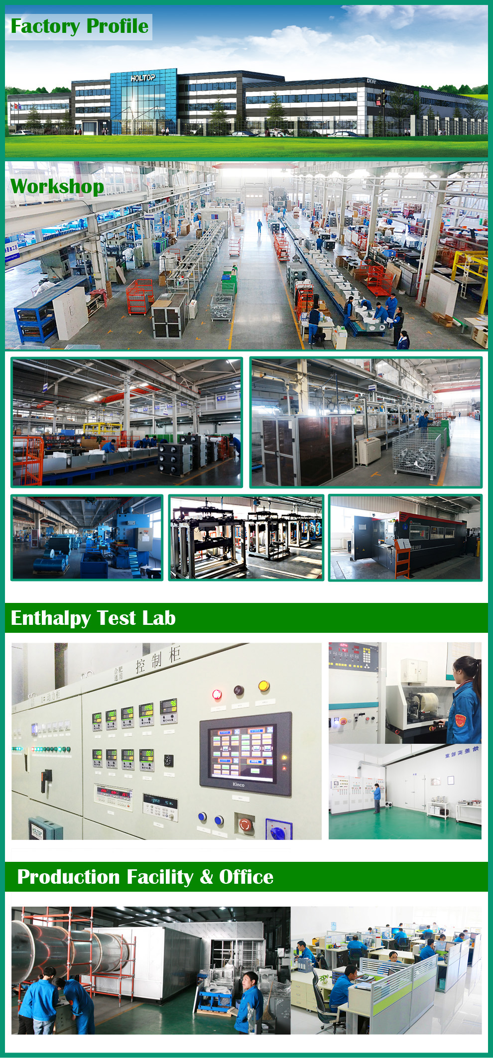 Forced mechanical air heat energy recovery ventilation system for VRF AC system