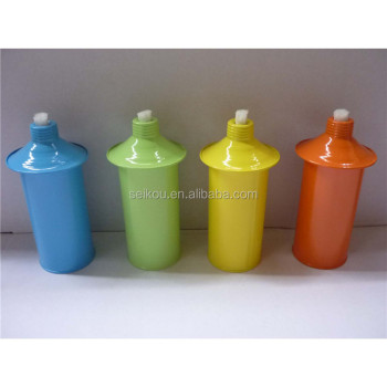 Colored Metal Replacement Canister For Citronella Oil