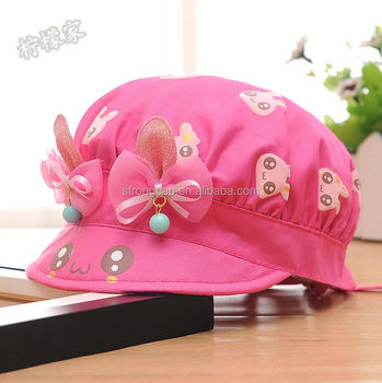 0b5168dfd25 Fashion Kids Toddlers Baby Girls Sun Hat Polka Dot Flower Bucket Cap  Bowknot Pearl Hat