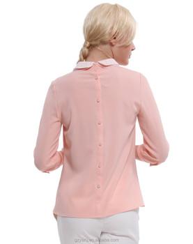 Ladies Fashion Chiffon Blouses Backside Button Down Blouse - Buy Button  Down Blouse,Fashion Blouse,Chiffon Blouse Product on Alibaba com