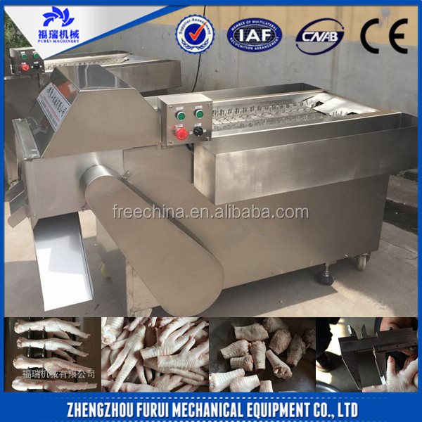 Large output chicken paw processing machine/frozen chicken feet cutting machine