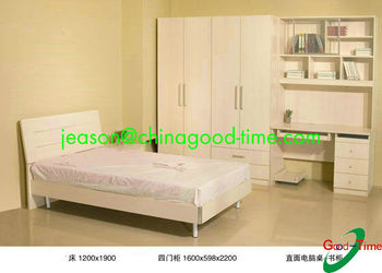Children Bedroom Set Bed Wardrobe Study Table With Bookshelf