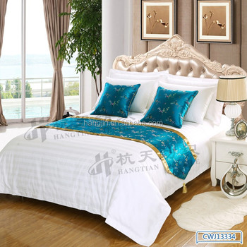 Elegant Chinese Silk Bed Runners /custom Table Runners With Pendant /  Ethnic Touch Body Cushion