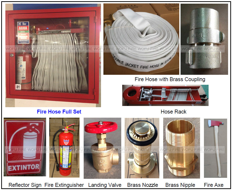 Carbon Steel Fire Hose Cabinet Full Set, Outdoor Fire Hose Cabinet