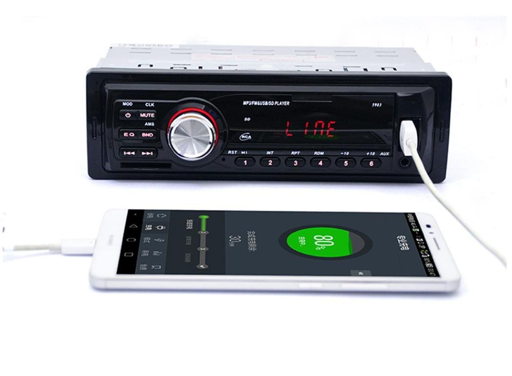 GBSELL Car Radio Stereo In-Dash MP3 Music Player FM USB SD AUX Input Receiver,Remote Control