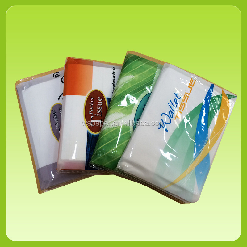 Advertising  Virgin pulp  pocket style wallet Tissue Paper to Singapore