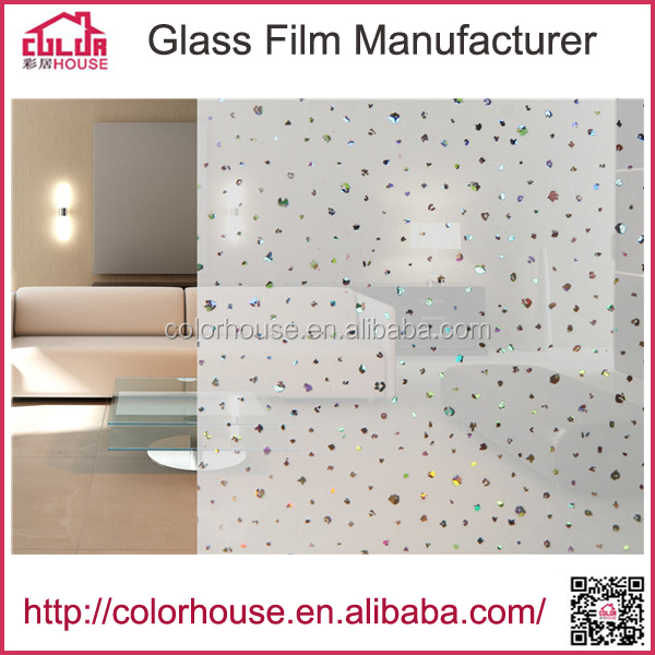 popular window sticker office/home decorative PVC laser glass film