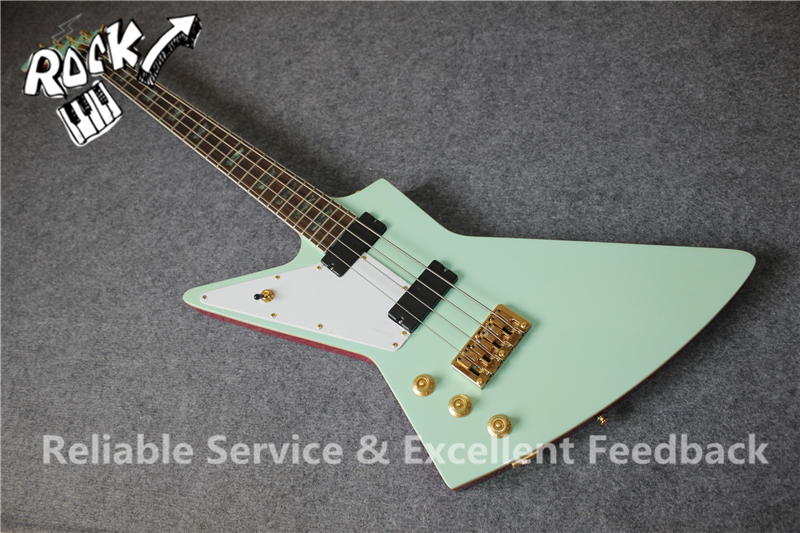 custom shop 4 strings explorer electric bass guitar left hand body right hand available to. Black Bedroom Furniture Sets. Home Design Ideas