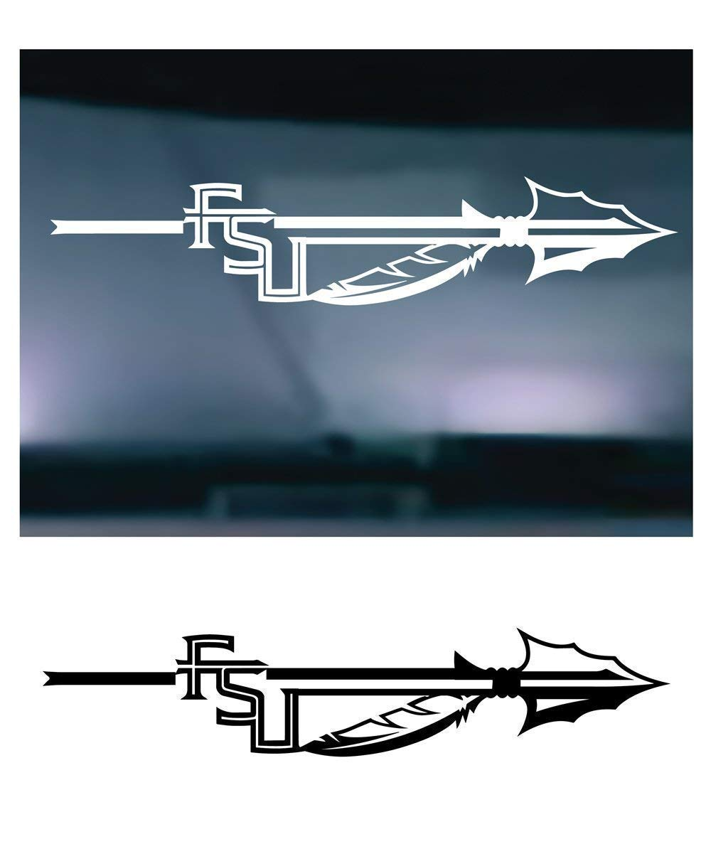 X2 - Similar to FSU Seminole Style ARROW 202 Vinyl Graphic Decal Sticker for Vehicle Car Truck Window Wall Laptop High Quality Outdoor Rated Vinyl - SET OF (2) TWO