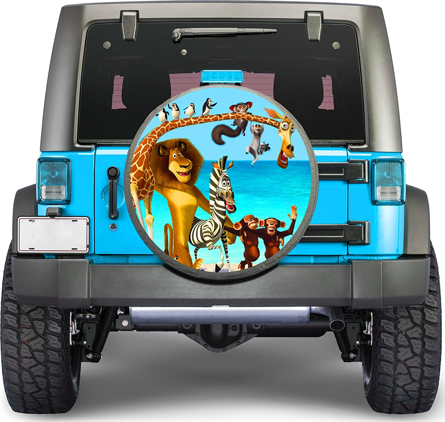 1889ac209b Get Quotations · Animation Cartoons Sticker Full Color Spare Tire Cover  Decal, Sticker Wheel Cover gc2039