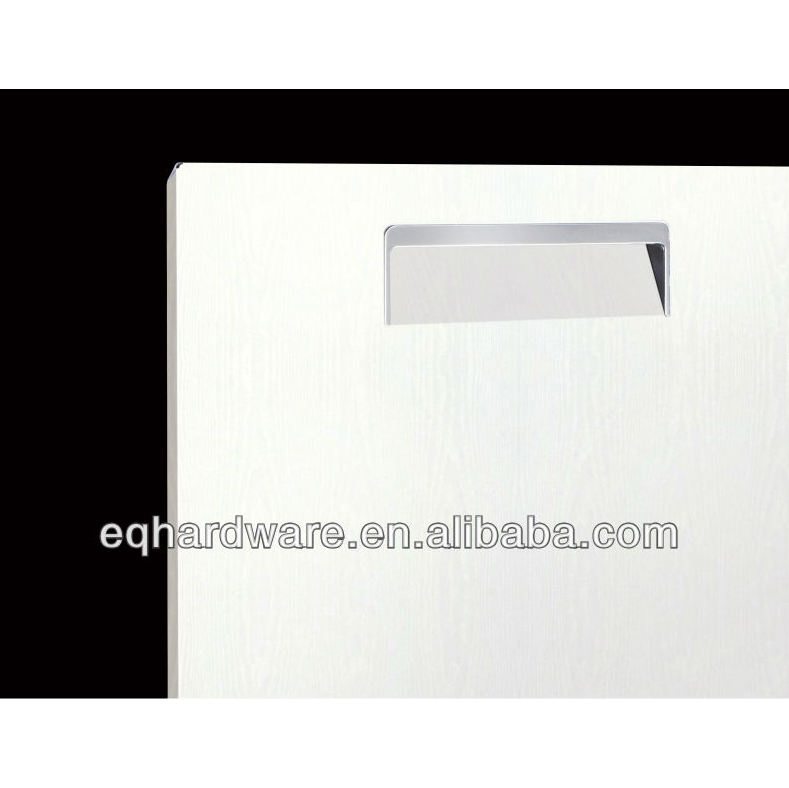 High grade Stainless Steel Structure Elegant White Color Wood Pattern Kitchen Cabinet Door