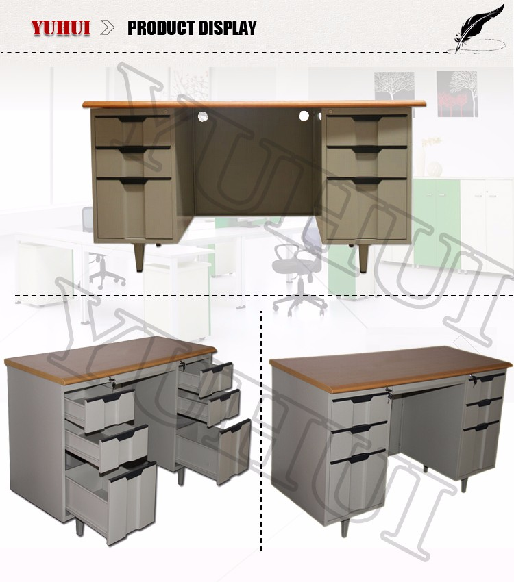 plastic office desk. iron white office desk with 6 drawers plastic handles metal table i
