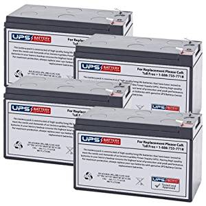 Set of 4 - APC Back-UPS 1200 XS1200 Battery - Replacement UB1270 Universal Sealed Lead Acid Battery (12V, 7Ah, 7000mAh, F2 Terminal, AGM, SLA)