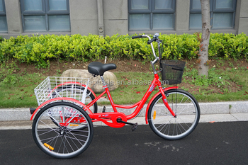 Cheap 24inch Three Wheel Bicycle Adult Tricycle Trike For Sale