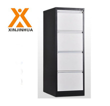 Modern office furniture vertical metal 4 drawer bamboo file cabinet