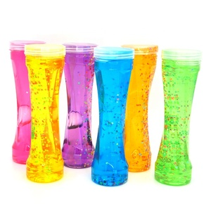 Wholesale Colorful Plasticine DIY Glitter Jelly Mud Bottle Bubble Light Crystal Slime Modeling Star Clay