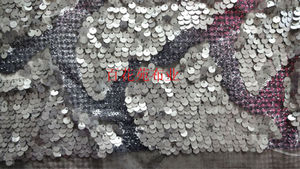 new sequin embroidery mesh fabric for wholesale