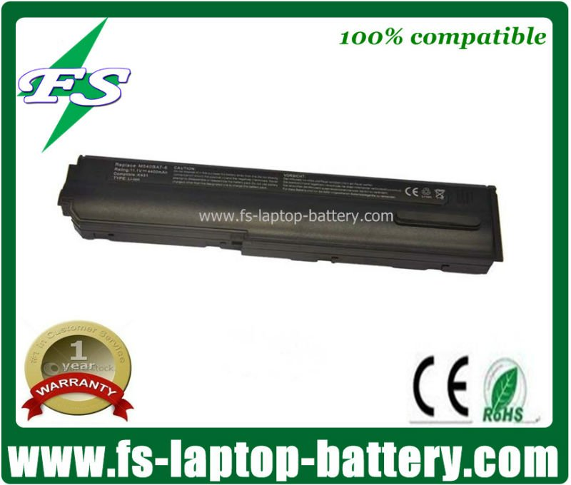 Cheap M540BAT-6 11.1V,6 cell laptop batteries for Clevo M54,M55,M540,M540G,M540V,M550 Series