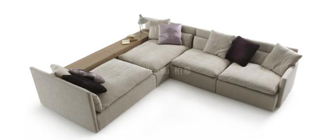 Foshan 2016 New Simple Design Living Room Furniture Divan High Density  Sponge Beige Sofa Modern S150