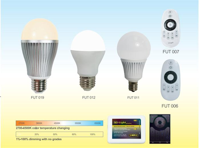 Wifi Led Color Changing Light Bulbs 2.4g Rf Daylight White ...