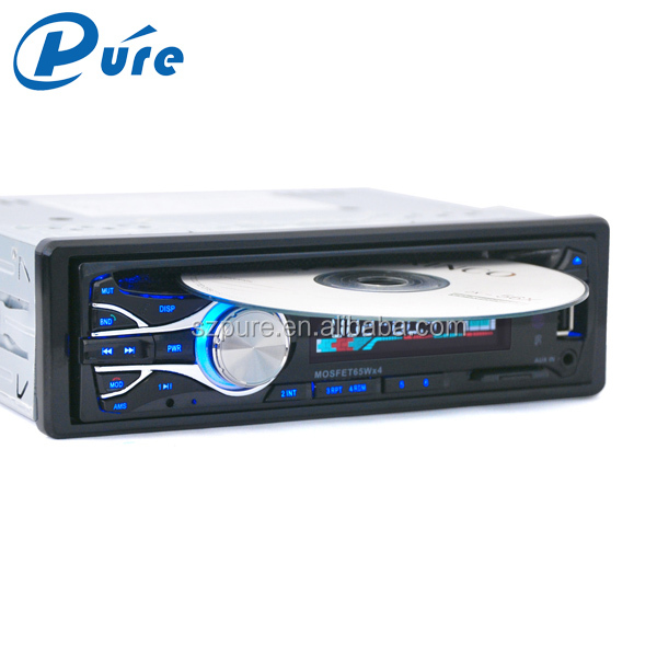 1 Din เครื่องเล่น DVD Player ระบบ AUX - in/USB SD MMC Reader/Fixed panel