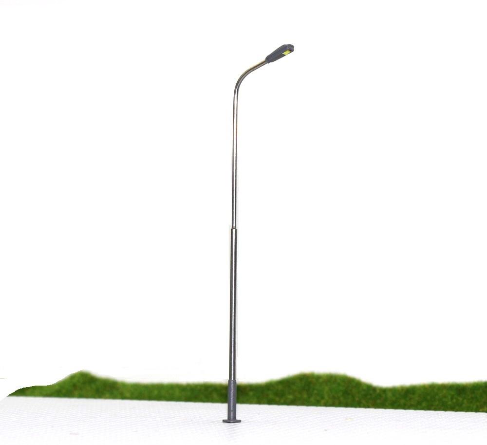Wholesale-LQS08 20pcs Model Railway Train Lamp Post Street Lights HO OO  Scale LEDs NEW