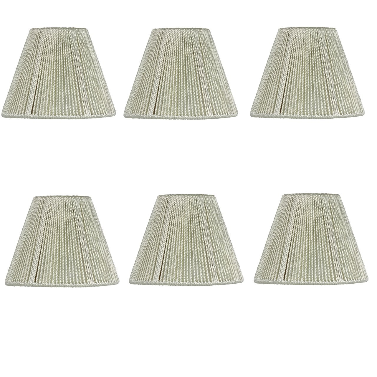 Upgradelights 5 Inch Hand Strung Pleated Empire Chandelier Lamp Shades (Set of six clip on shades) 3x5x4