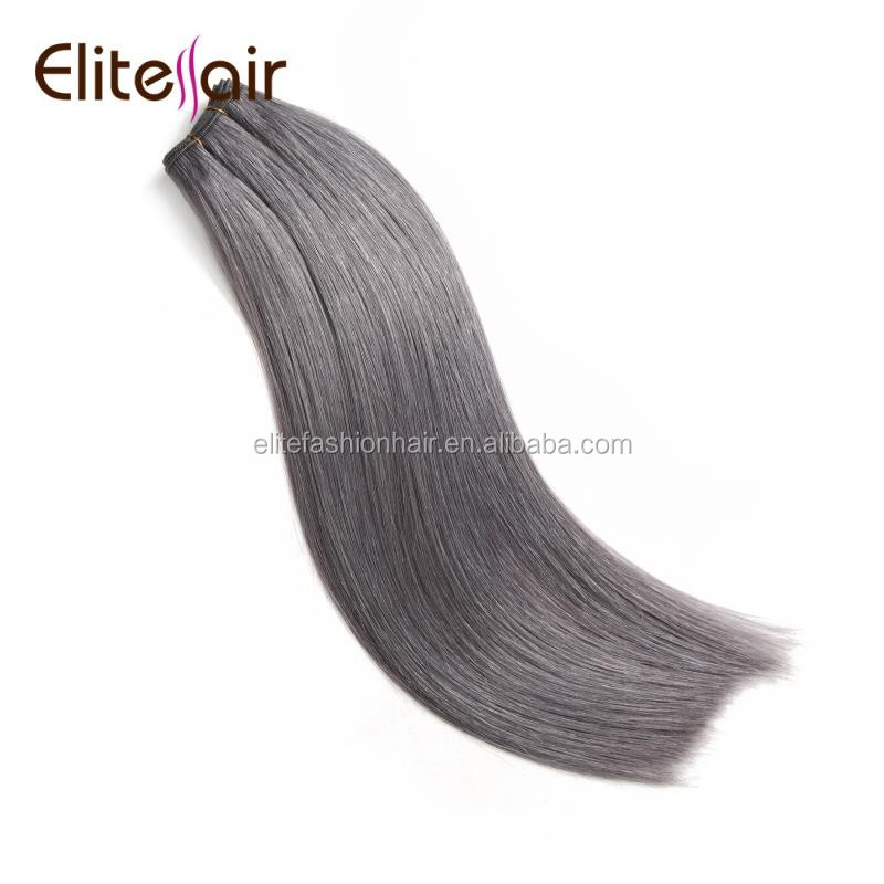 ali wholesale european hair wholesale high quality double drawn cuticle remy hair extensions gray human hair