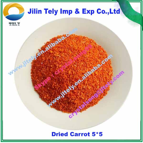 Air Dried Dehydrated Organic Carrot 5*5