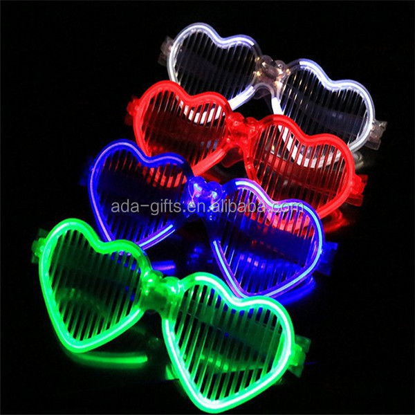 hot sale shutter led glasses event party supply flashing led plastic glasses
