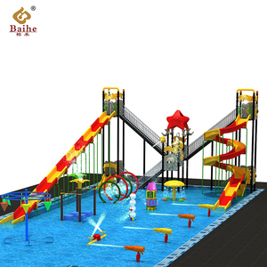 Baihe top quality water park amusement swimming pool slide price