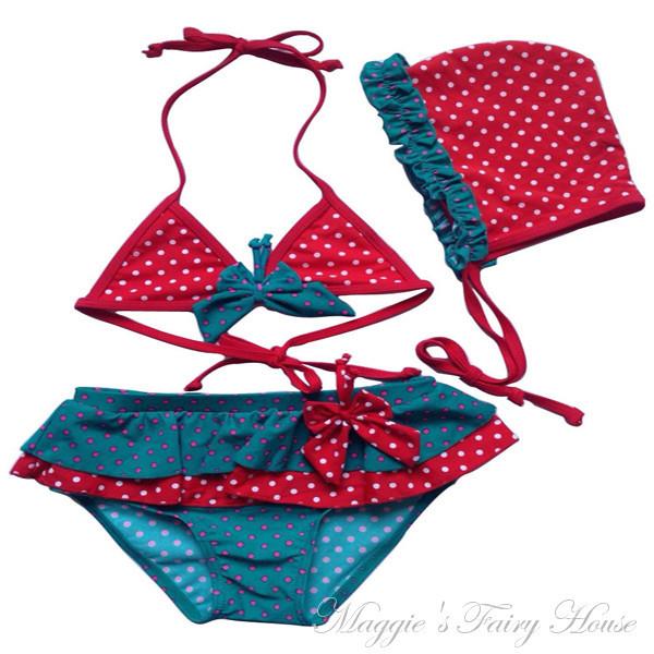 Newest Kids Girl Fruit Swimwear Children 2 Pieces Swimsuit Girls With Watermelon Print Sling Swim Wear 2-6yrs Cheap Sales Swimwear