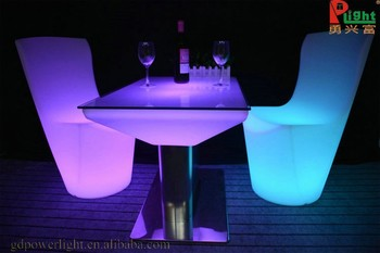 Marvelous Customized Plastic Mould Waterproof Hookah Lounge Furniture Colored Club  Furniture Led Bar Table