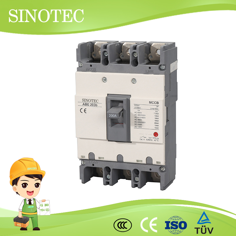 Abs abe type circuit breaker200a 400a electrical mccb 2p 3p