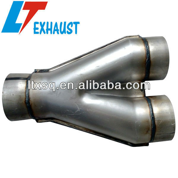 X pipe/stainless chromed exhaust muffler