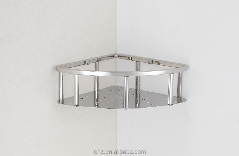Stainless Steel Wall Mounted Shower Basket Shelf 6604