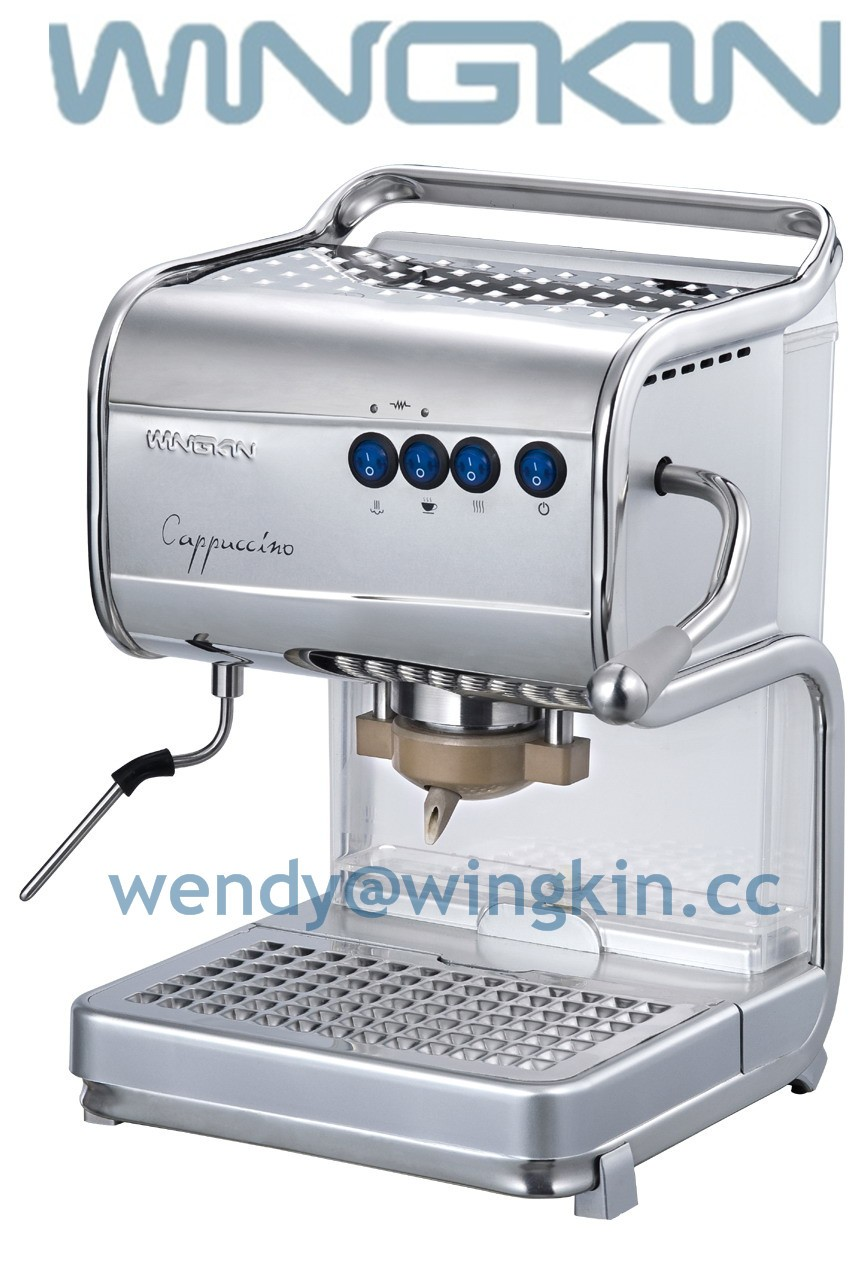 Electronic Ese Pod Coffee Machine high quality stainless steel coffee machineese pod makers machine ese with milk frother