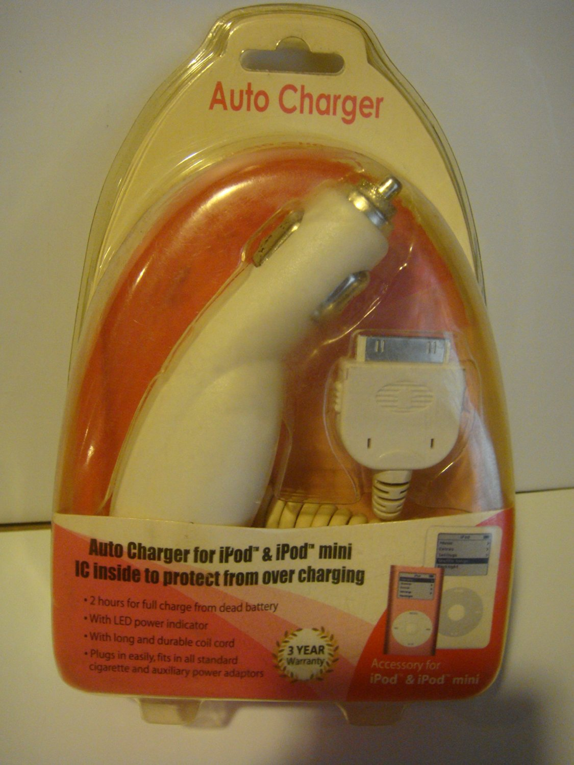 Auto Charger for iPod & iPod Mini