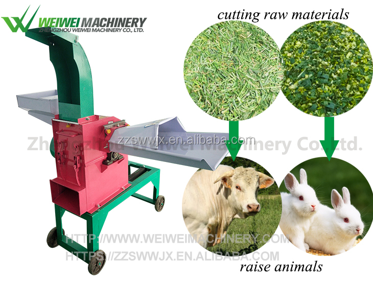 Chaff cutter for wheat straw
