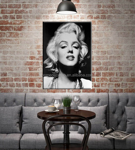 latest famous girls portrait of marilyn monroe pictures painting canvas print wall art movie poster and prints