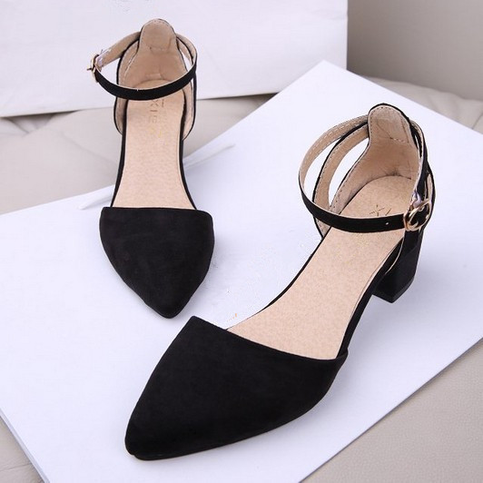 Women Shoes Ankle Strap Closed Toe