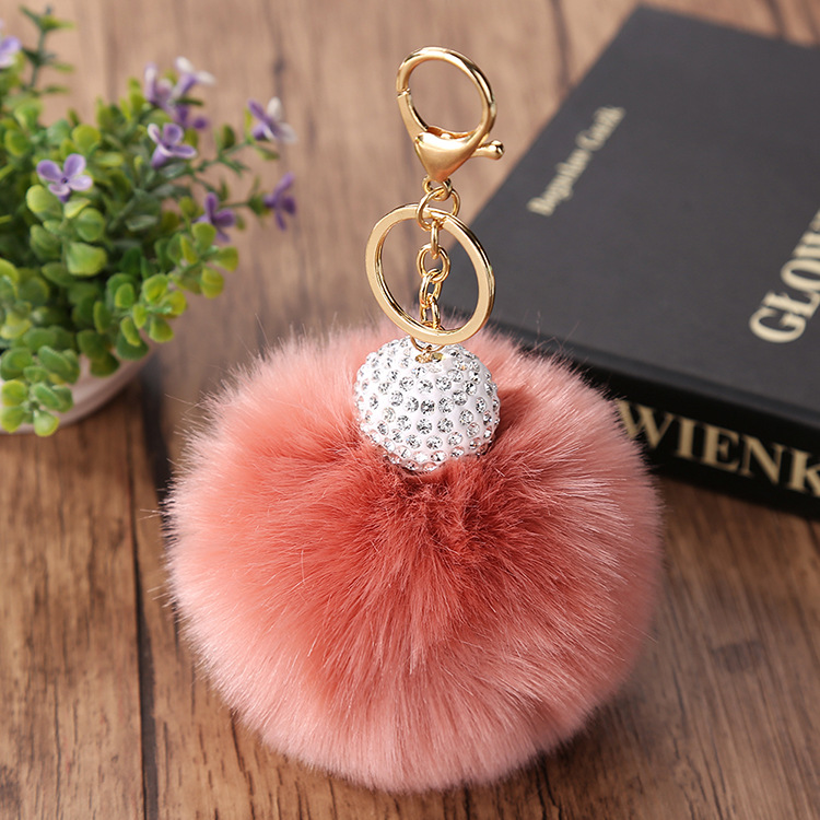 OEM key holder keychains with crystal beads for slipper decoration
