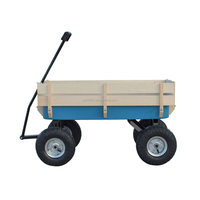 High Quality 150kgs Beach Wooden Wagon Kids Folding Wagon